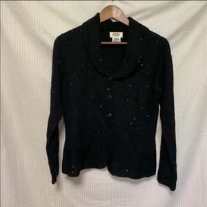 4 for $25 Talbots sequin cardigan size M Flaw